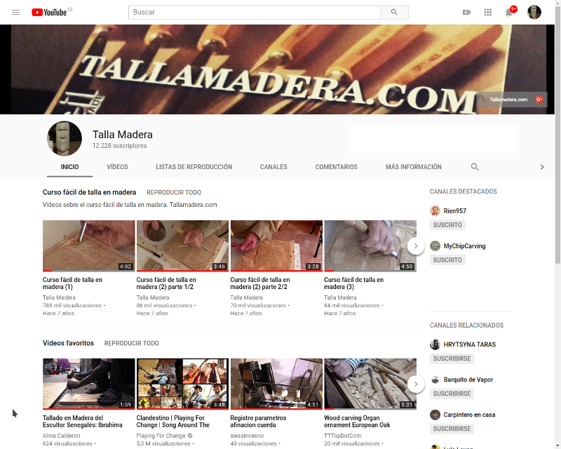 ¿Conoces el canal de youtube de talla madera?