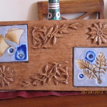 madera y cerámica