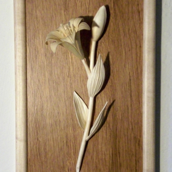 Woodcarving Lilium flower.II