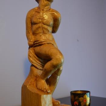Escultura clásica-roble