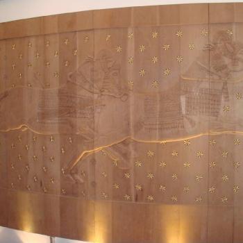 Jinetes Caídos. 2,20 mt.  altura x 4 mt. largo