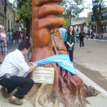 La Llama de la Esperanza. Inauguración por Gustavo Da Silva