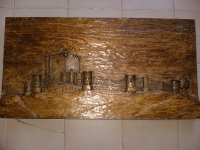 castillo de iscar en madera de pino negral