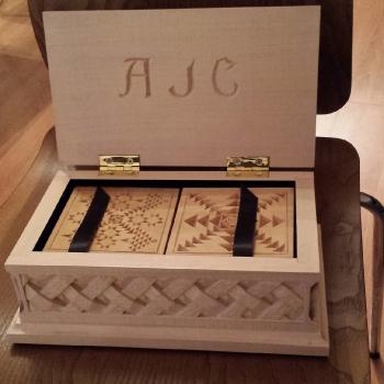Caja para posavasos personalizada