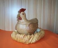 caja gallina