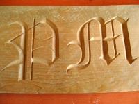 Tallando letras