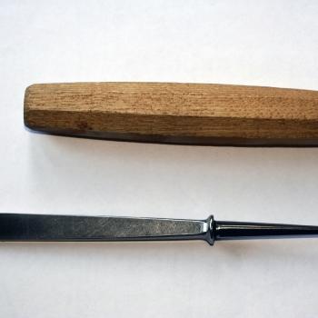 Pfeil: diseño de la hoja y el mango.