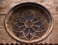 Rosetón románico