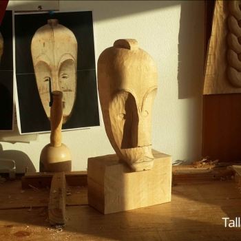 Máscara Africana Tallada por Francisco_28
